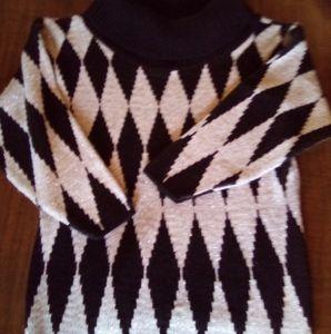 Vintage Oversized Turtleneck Sweater. sz. MD